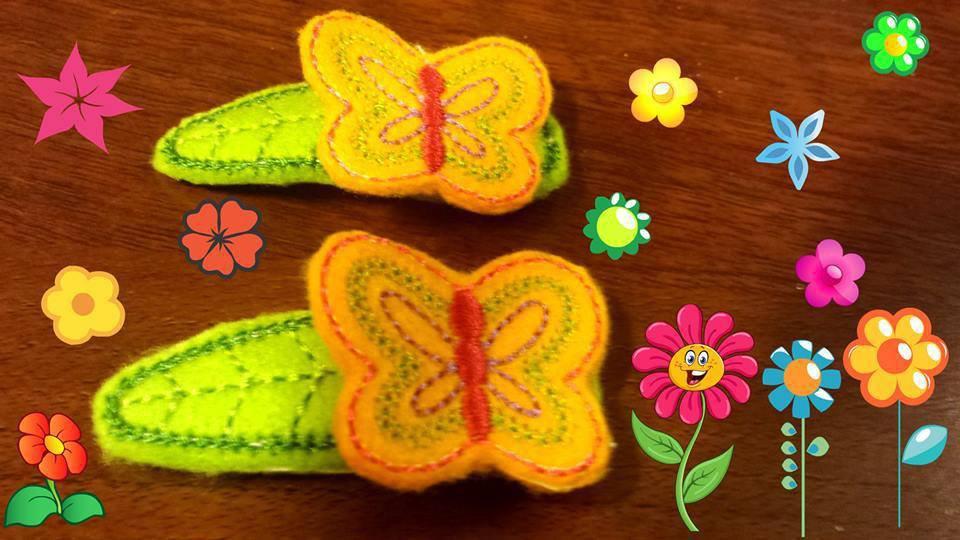 Mollette per capelli- Set due pezzi Le farfalle