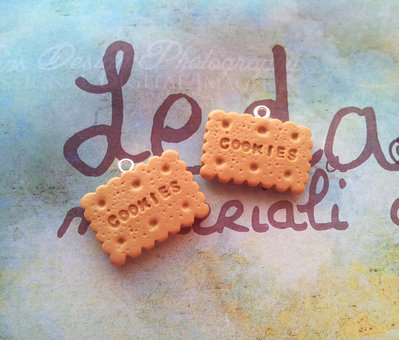 Biscotto cookies ciondolo in fimo