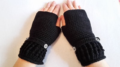 mezzi guanti scalda mano uncinetto