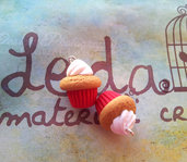 Cupcake ciondolo in fimo