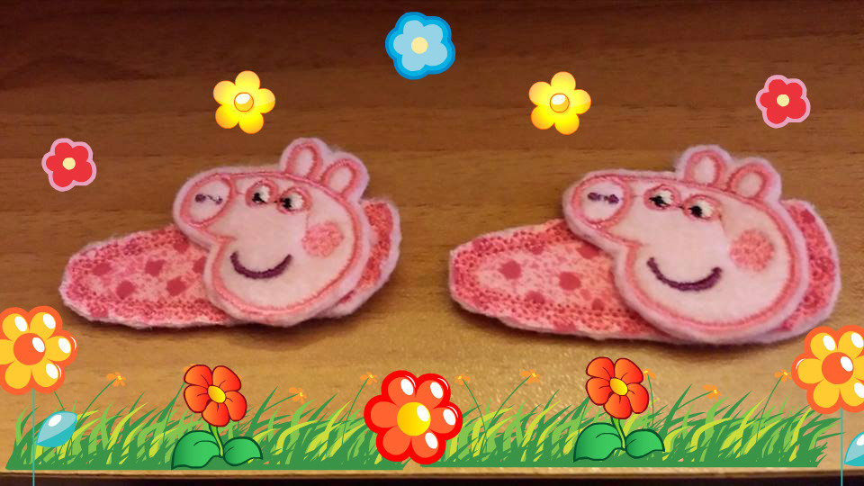 Mollette per capelli-Set due pezzi- Peppa Pig