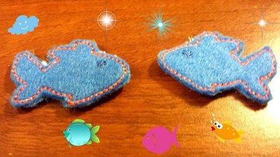 Mollette per capelli-Set due pezzi-I pesciolini