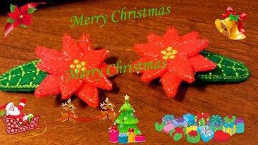 Mollette per capelli-Set due pezzi-Le Stelle di Natale
