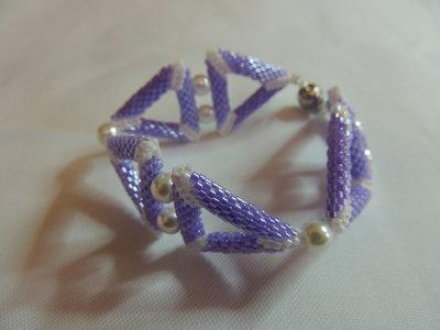 Bracciale triangolo lilac