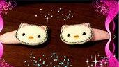 Mollette per capelli-Set due pezzi-Hello Kitty