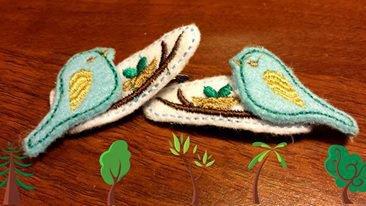 Mollette per capelli-Set due pezzi-Gli uccellini