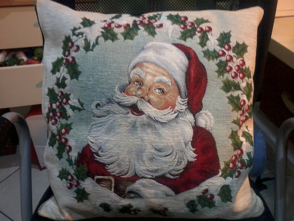 cuscini natalizi in tessuto gobelin