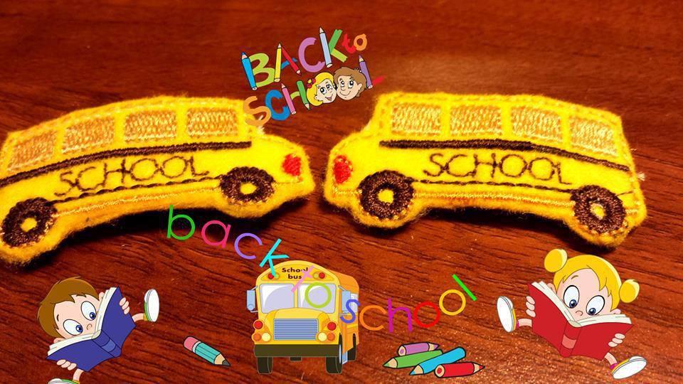 Mollette per capelli-Set due pezzi-Lo Scuolabus