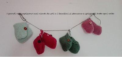 Scarpette di lana neonato