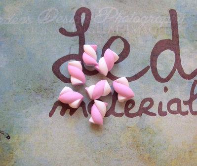 Lotto 10 marshmallow piccoli in fimo