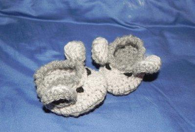 Scarpette scarpine topino Mickey Mouse bambini realizzate ad uncinetto