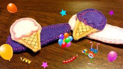 Mollette per Capelli-Set due pezzi-Ice Creams