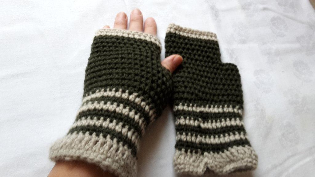guanti senza dita uncinetto