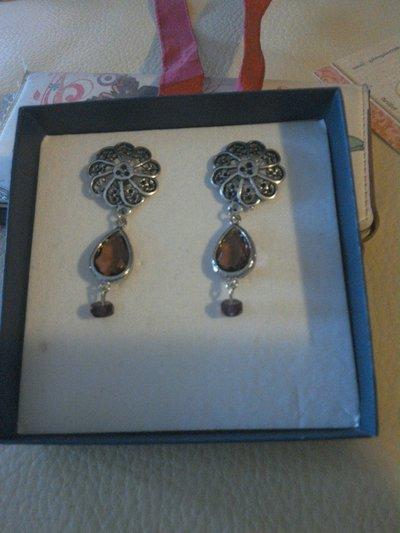 orecchini filigrana e ametista