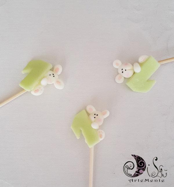 Spiedini di caramelle decorati per caramellate animaletti coniglietti