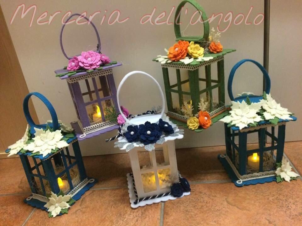 Lanterne in feltro per la casa e per te decorare casa - Decorare lanterne ...