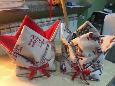 Portapane con soggetti natalizi