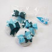 5 Spille-gadget di compleanno in feltro per la sua festa a tema in stile Frozen!(versione Elsa)