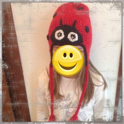 Cappello in lana coccinella