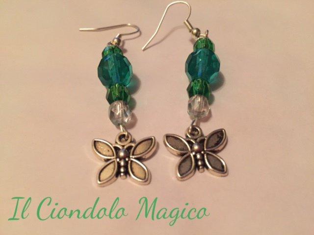 Orecchini Farfalla Smeraldo