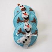 Set di 5 spille in feltro per la vostra festa di compleanno a tema Frozen: Olaf il pupazzo di neve ringrazierà i piccoli ospiti per voi!