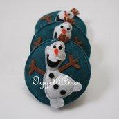 5 Spille-gadget di compleanno in feltro per la sua festa a tema in stile Frozen!(versione Olaf)