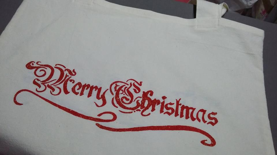 Borsa per la spesa tema  natalizio