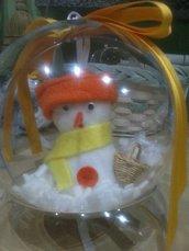 sfere con pupazzo di neve
