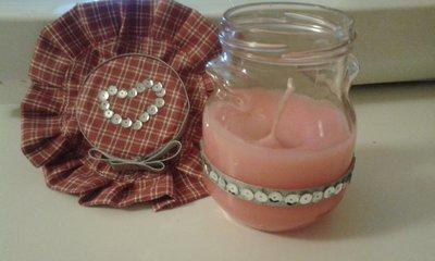 candela scintillante in vetro