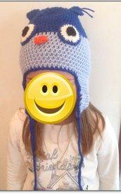 Cappello bambino in lana gufo