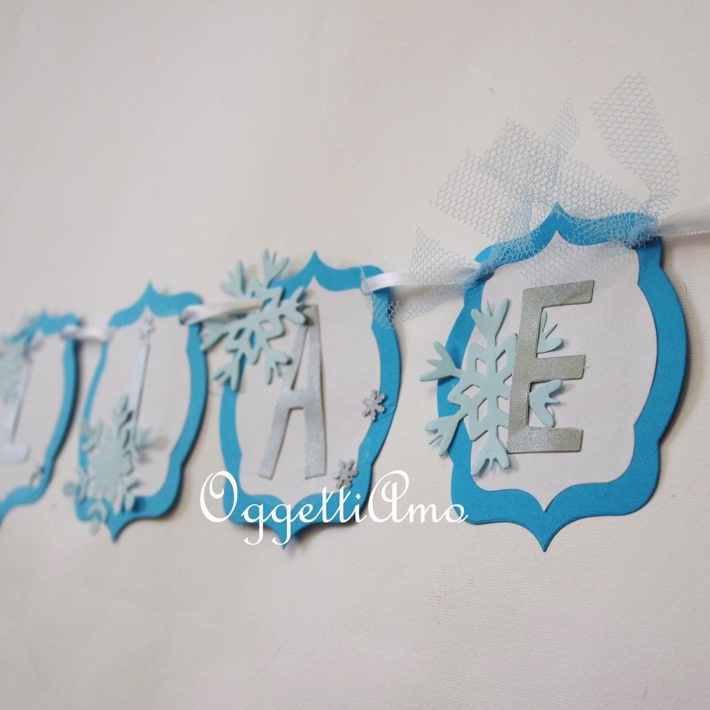 Ghirlanda di carta per la sua festa di compleanno a tema Frozen