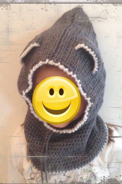 Cappuccio hood in lana
