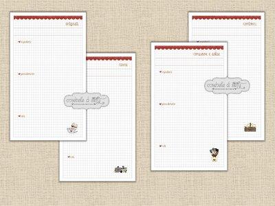 Schede ricette stampabili per ricettario