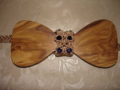 papillon di ulivo e macrame'