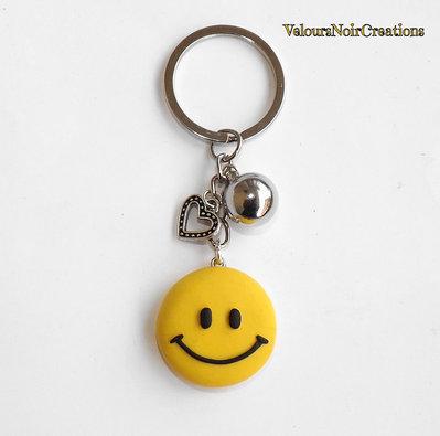 Portachiavi smile emoticon in fimo