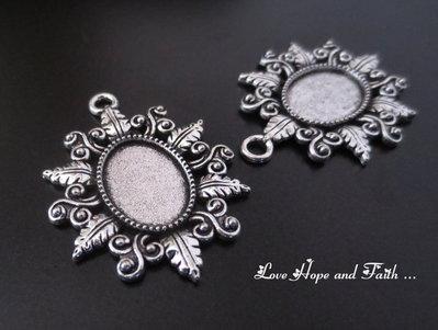 NOVITA'! Base cabochon color argento (dcod.13029)