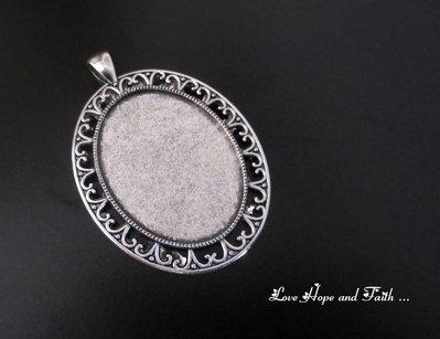 NOVITA'! Base cabochon color argento (dcod.4109)