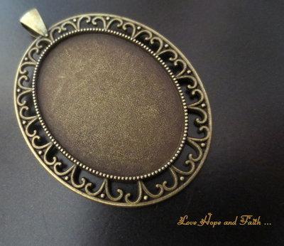 NOVITA'! Base cabochon color bronzo (dcod.4044)