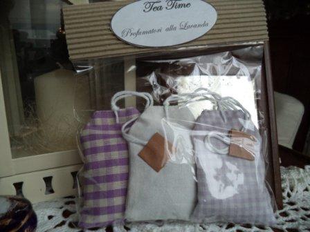 """Tea Time"" profumatori per armadio alla lavanda a forma di bustina da tea"