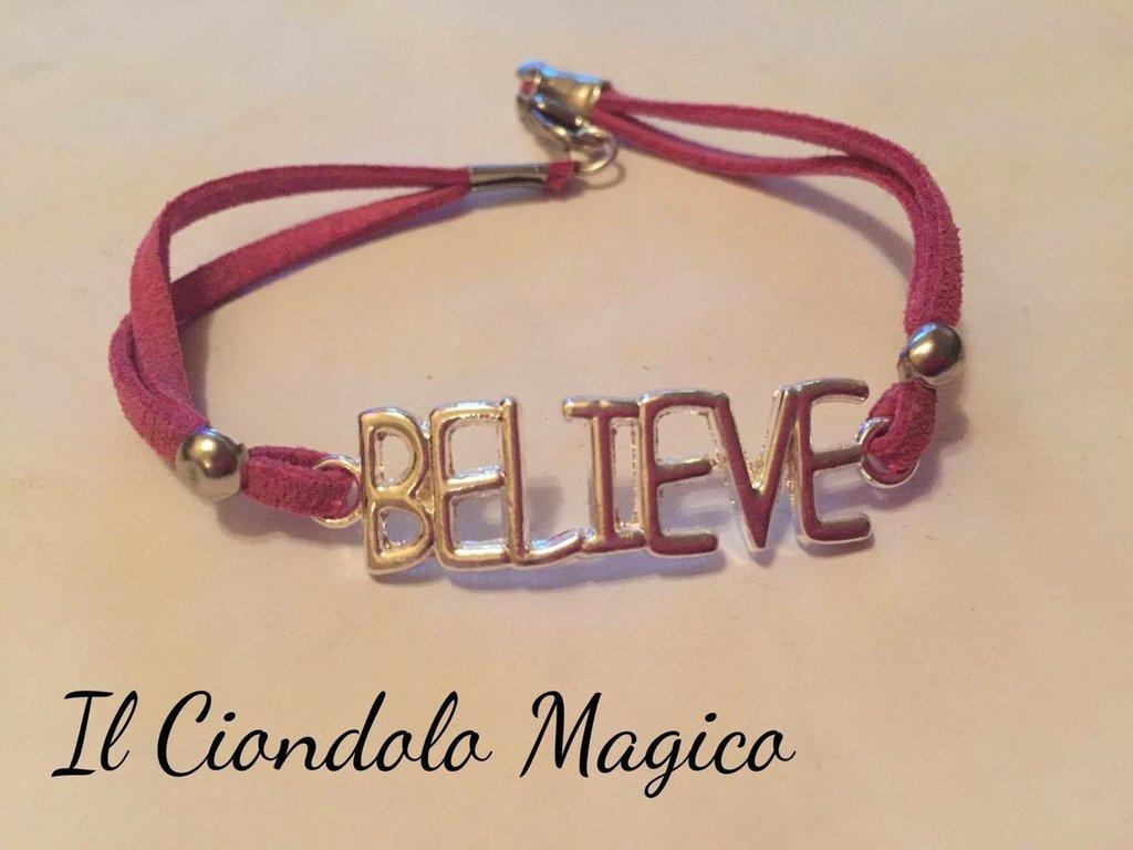 "Bracciale ""Believe"" in Argento tibetano"