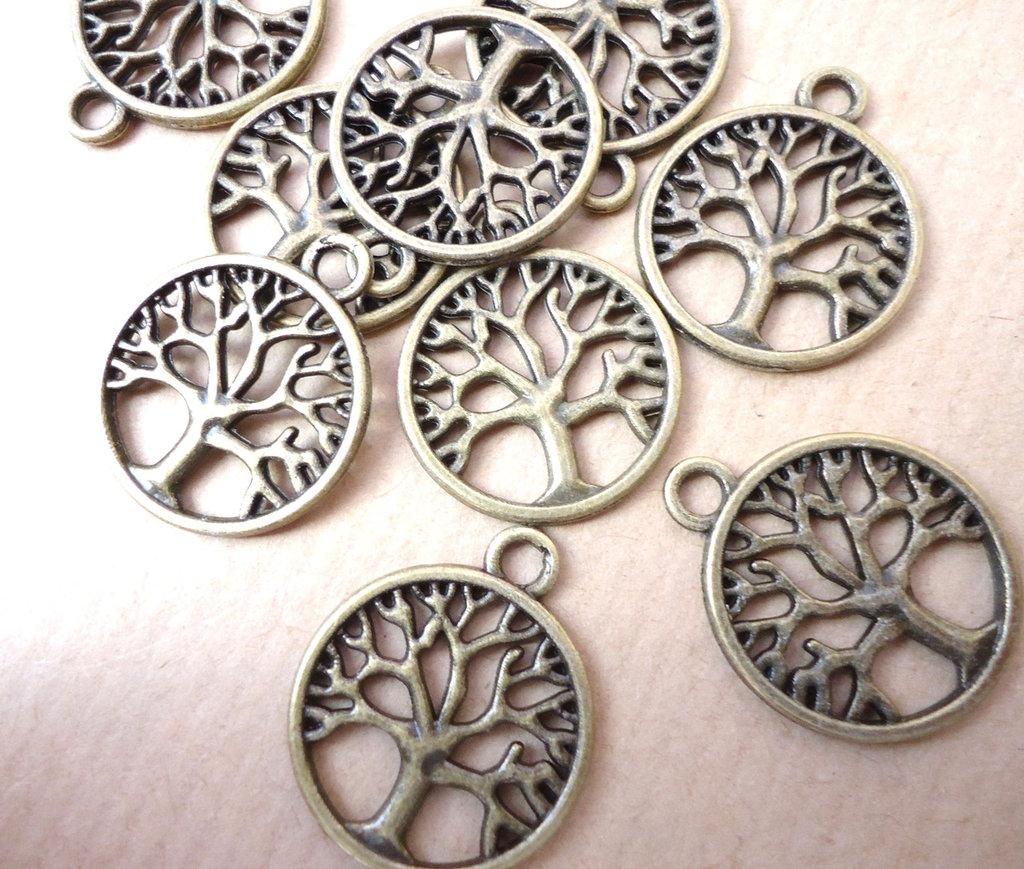 5pz ciondoli ALBERO DELLA VITA - bronzo cm 2,5
