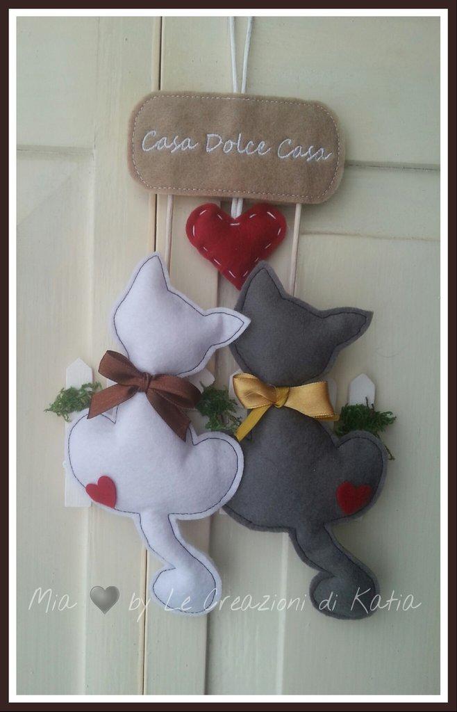 Gattini casa dolce casa feste idee regalo di mia by for Oggetti da appendere