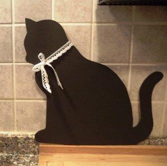 """C'era una volta una gatta""... lavagnetta in compensato per cucina o cameretta"