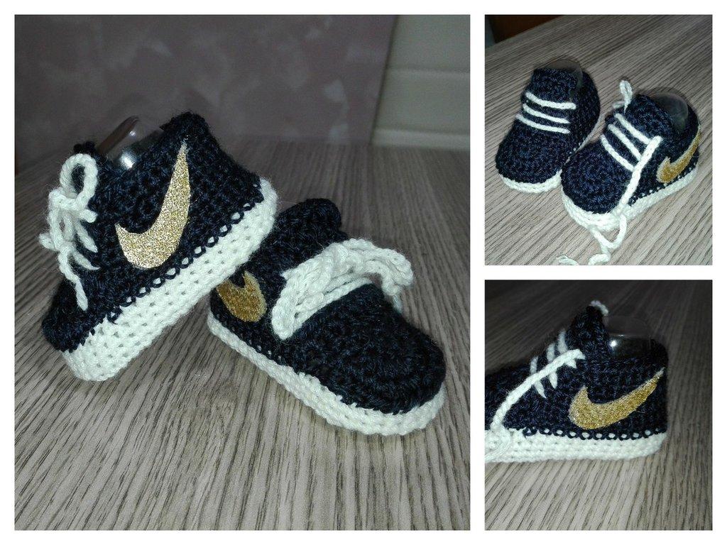 Scarpe neonati uncinetto