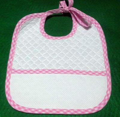 Bavaglino in spugna di cotone rosa personalizzato