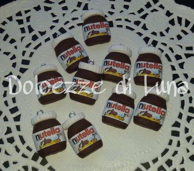 1 pezzo nutella in fimo con retro piatto per anelli,scatole ... fatto a mano