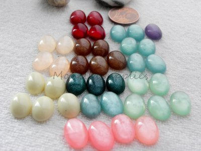 CABOCHON CAMMEO  IN RESINA  FORMA OVALE  8X13 mm