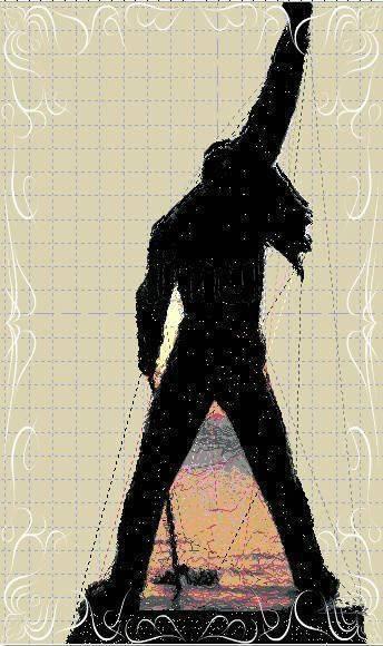 Cover Cd Freddie Mercury Ricamata