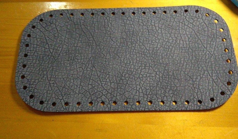 fondo rettangolare  grigio tortora  28x15