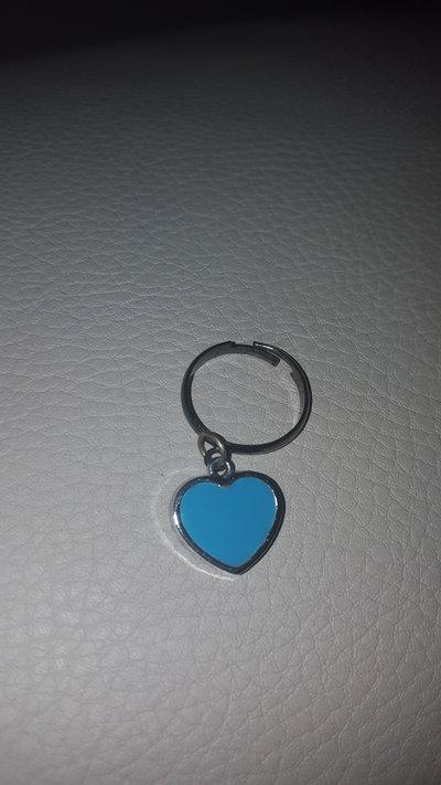 Anello cuore blu